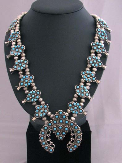 Zuni Made Turquoise Necklace