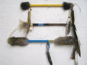 Ceremonial Native American Talking Sticks