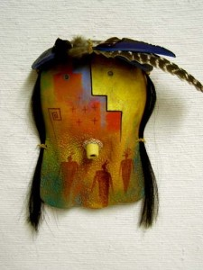 Native American Navajo made clay mask
