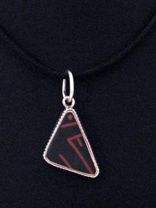 Mata Ortiz sterling silver pendant