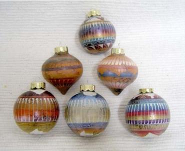 Navajo made horsehair Christmas ball