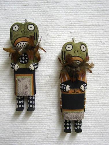 Hopi frog katsina doll