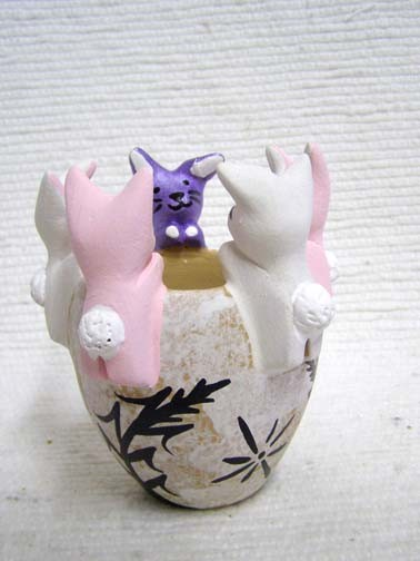 Native American bunny friendship vase