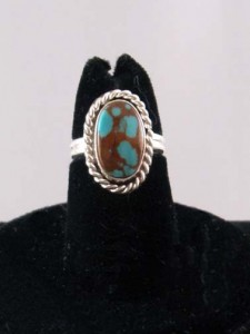 Native American made turquoise ring