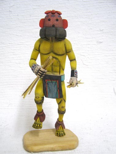 hopi carved chili pepper racer katsina doll