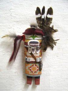 hopi carved bobcat hunter katsina doll