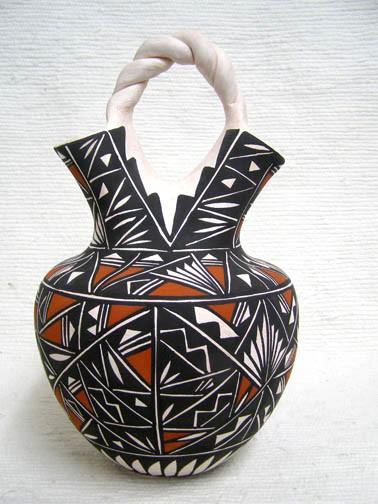 native american acoma wedding vase