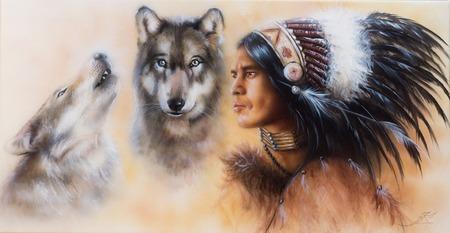 Cherokee Wolf Clan Painting
