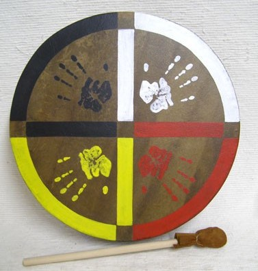 The Medicine Wheel Painted on a Drum