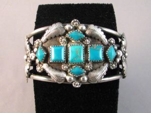 Native American Made Turquoise Cuff Bracelet