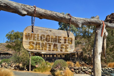 Welcome to Santa Fe Sign