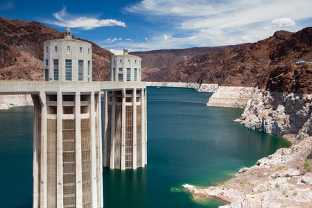 Lake Mead with Hoover Dam