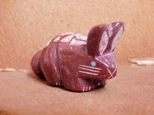 Red Native American Rabbit Fetish