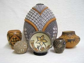 Colorful Native American Pottery
