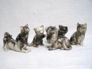 Horse Hair Ceramic Cats